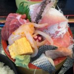 『タカマル鮮魚店 セブンパークアリオ柏』カキフライ弁当とてんこ盛りの海鮮丼