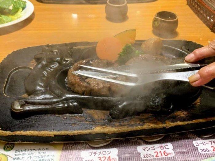 『炭焼きレストランさわやか浜松鴨江店』げんこつハンバーグはオニオンソースがたまらない