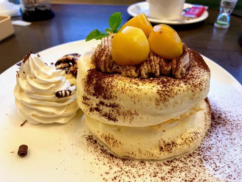『サンポ珈琲(サンポカフェ)松戸』季節のパンケーキと自家焙煎珈琲