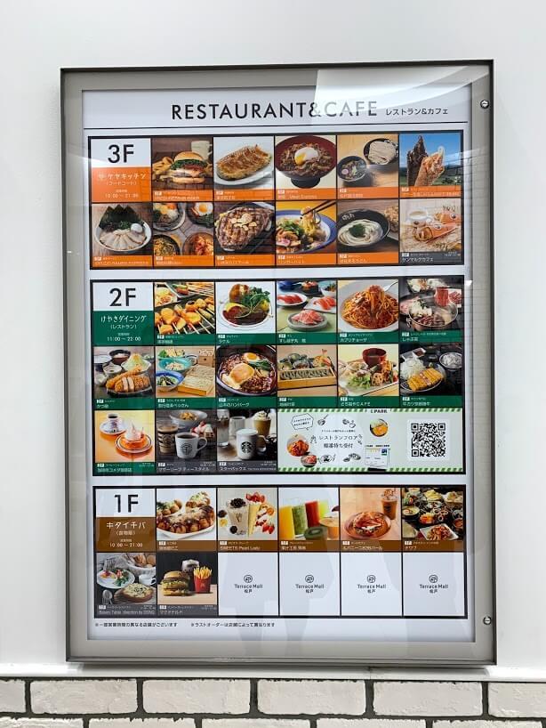 テラスモール松戸のレストラン&カフェの案内