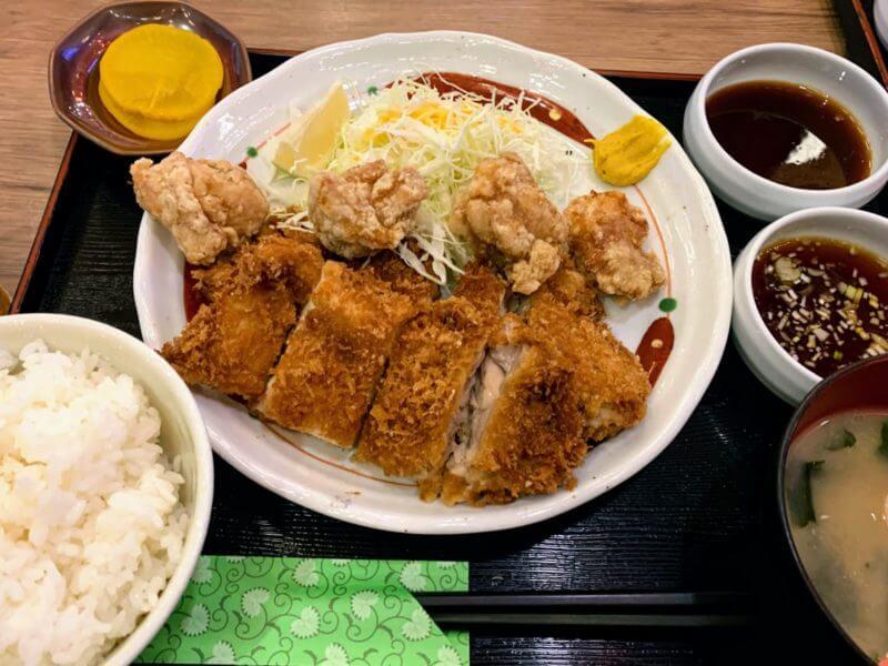 『鳥良商店 柏東口店』ランチのから揚げ定食とお得な昼飲み