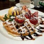 『イデカフェ イオンモール柏店』熱々ポテトとワッフルセット