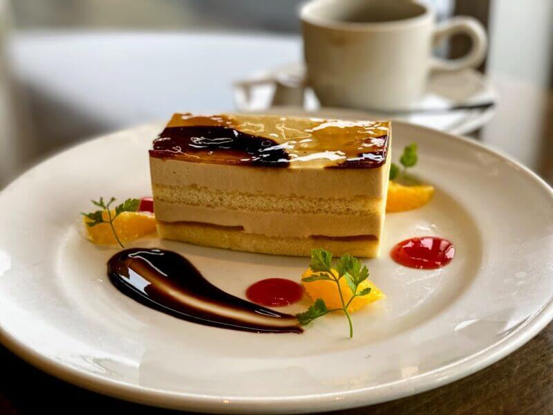 『プレストンカフェ 千葉ニュータウン店』ごま豆乳モンブランのケーキセット
