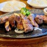 『ステーキ&ハンバーグの店 いわたき 野菊野店』熟成肉のステーキとサラダバー